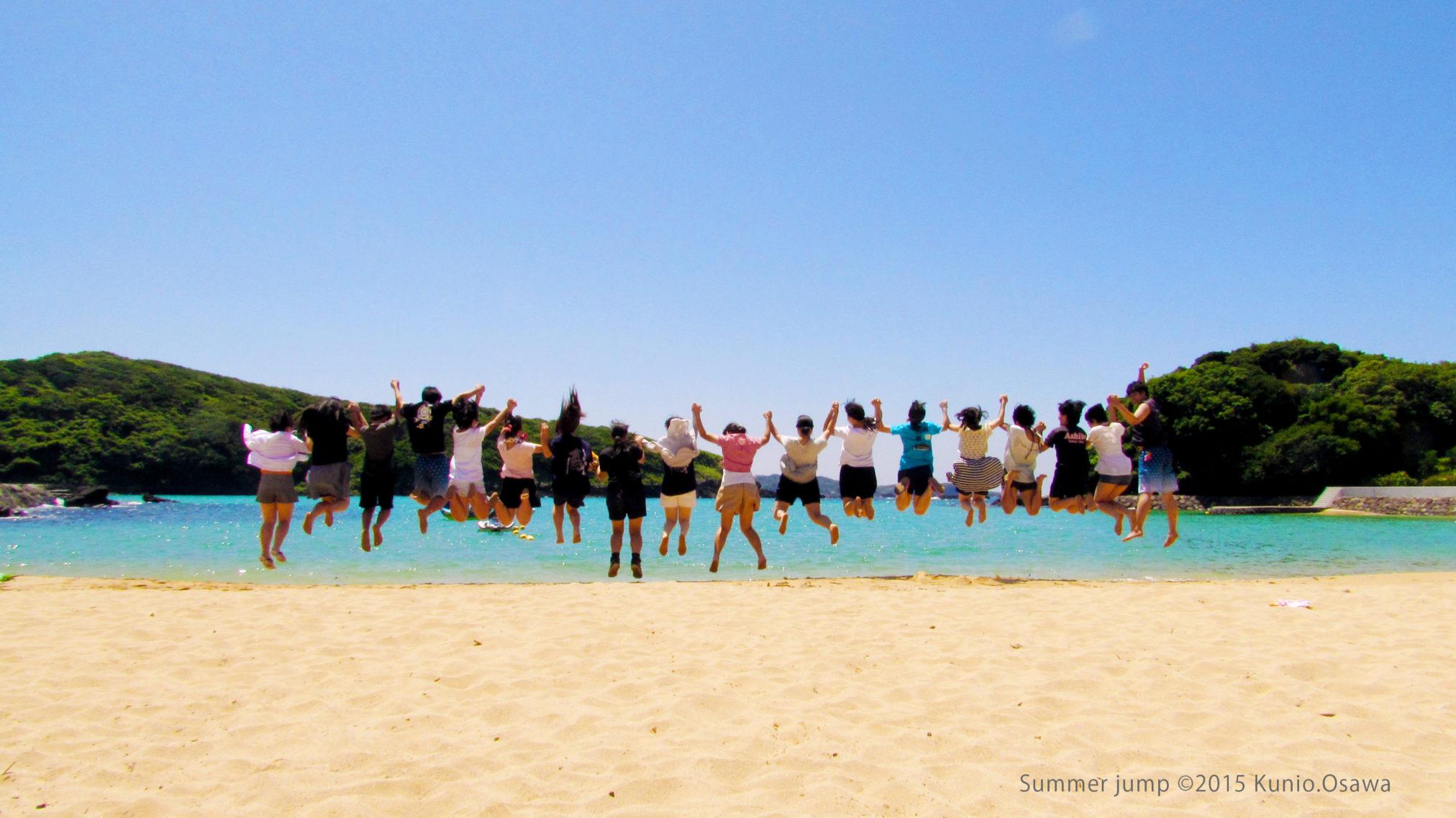 Beach jump (c)2015 Kunio.Osawa 大沢くにお